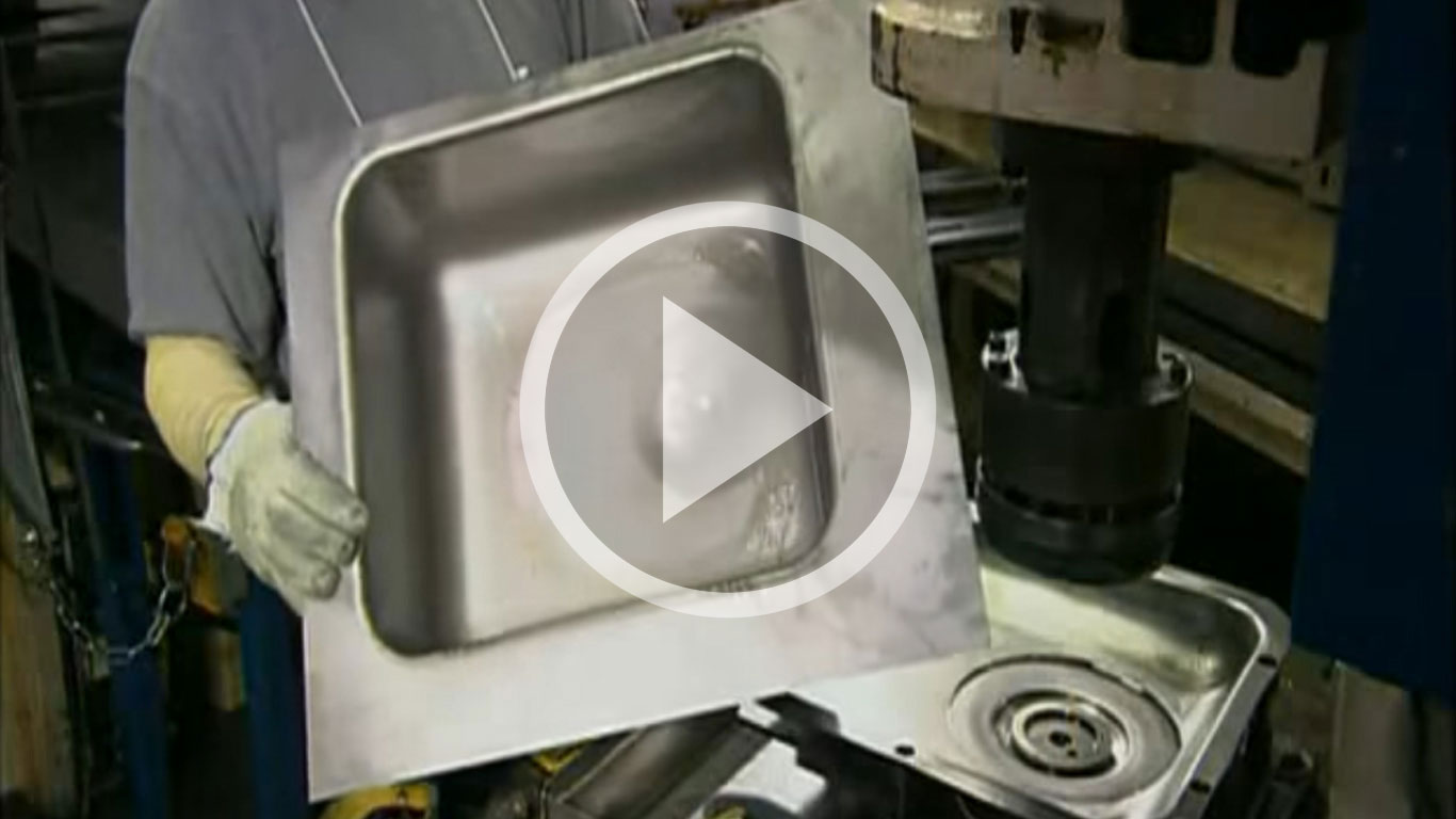Производство раковины из нержавейки