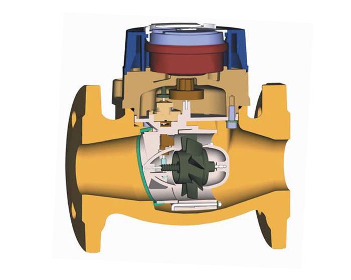 Тахометрический турбинный счетчик
